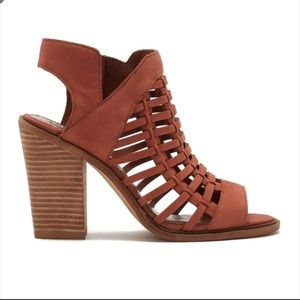 Vince Camuto Kessey Woven Leather Sandal Brown 10